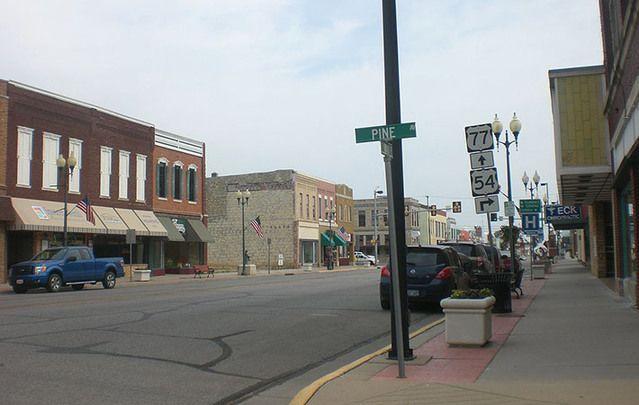 El Dorado, Kansas. Home to Obama's grandfather and Tim Kaine's mother.