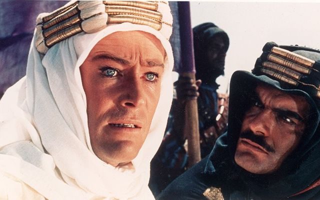 "Peter O\'Toole and Omar Sharif in ""Lawrence of Arabia\"""