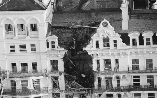 The Grand Hotel, in Brighton, following the 1984 bombing: Jo Berry, a woman whose father was killed in attack, and Pat Magee share incredible story of reconciliation.