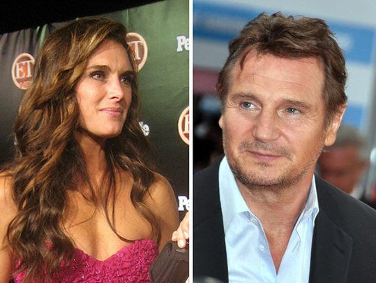 Brooke Shields says Liam Neeson wooed her with brogue and poetry - and cheap wine.