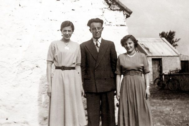 Margaret Boyle, left, with her brother Micheal and Philomena