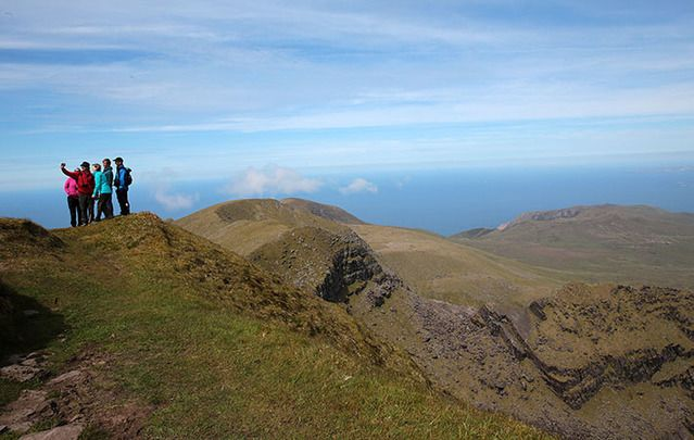 """Pilgrims Path,  Dingle Peninsula, Brandon Mountain: """"The ancient pathway dallies along pleasant back roads and fuchsia rich lanes with many echoes from the past."""""""