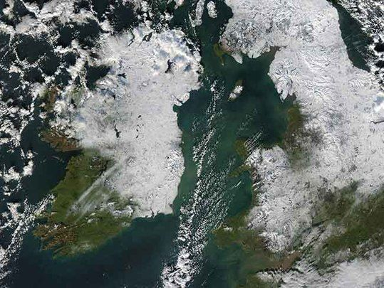 Brutal polar winds and widespread snow expected across Ireland this Christmas.