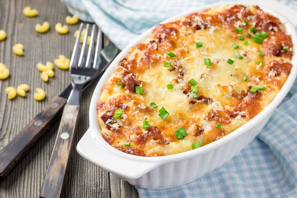 Corned beef cabbage pasta bake