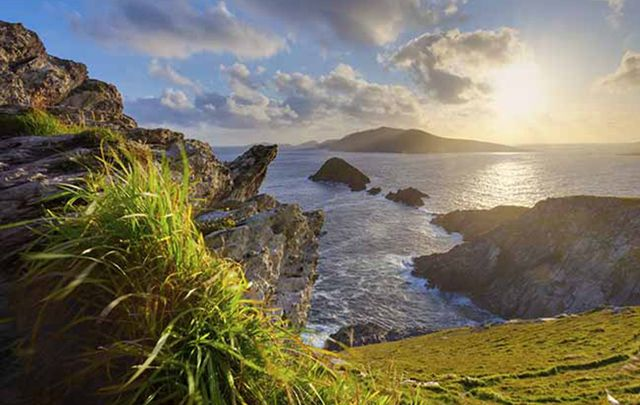 Ragged rocks, unending hills, lush green trees and the sea...what else could you want.
