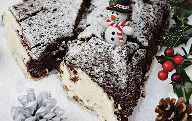 Why not try this sinfully delicious chocolate Yule log this Christmas?