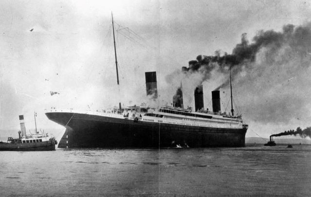 The Titanic, seen here on trials in Belfast Lough