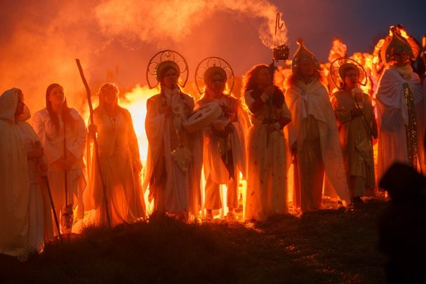 Bealtaine celebrations on the Hill of Uisneach in County Westmeath.