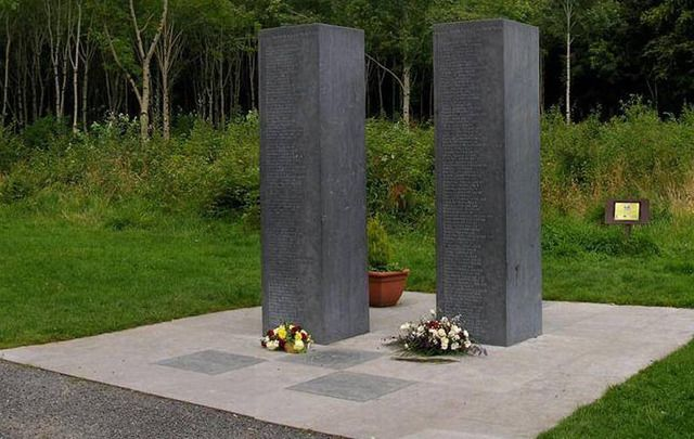 Donadea 9/11 memorial, in Donadea Forest Park, County Kildare.