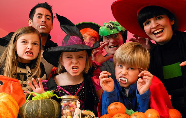 "Trick or Treat! You may be more likely to receive a trick if you handed this lot some ""monkey nuts."""