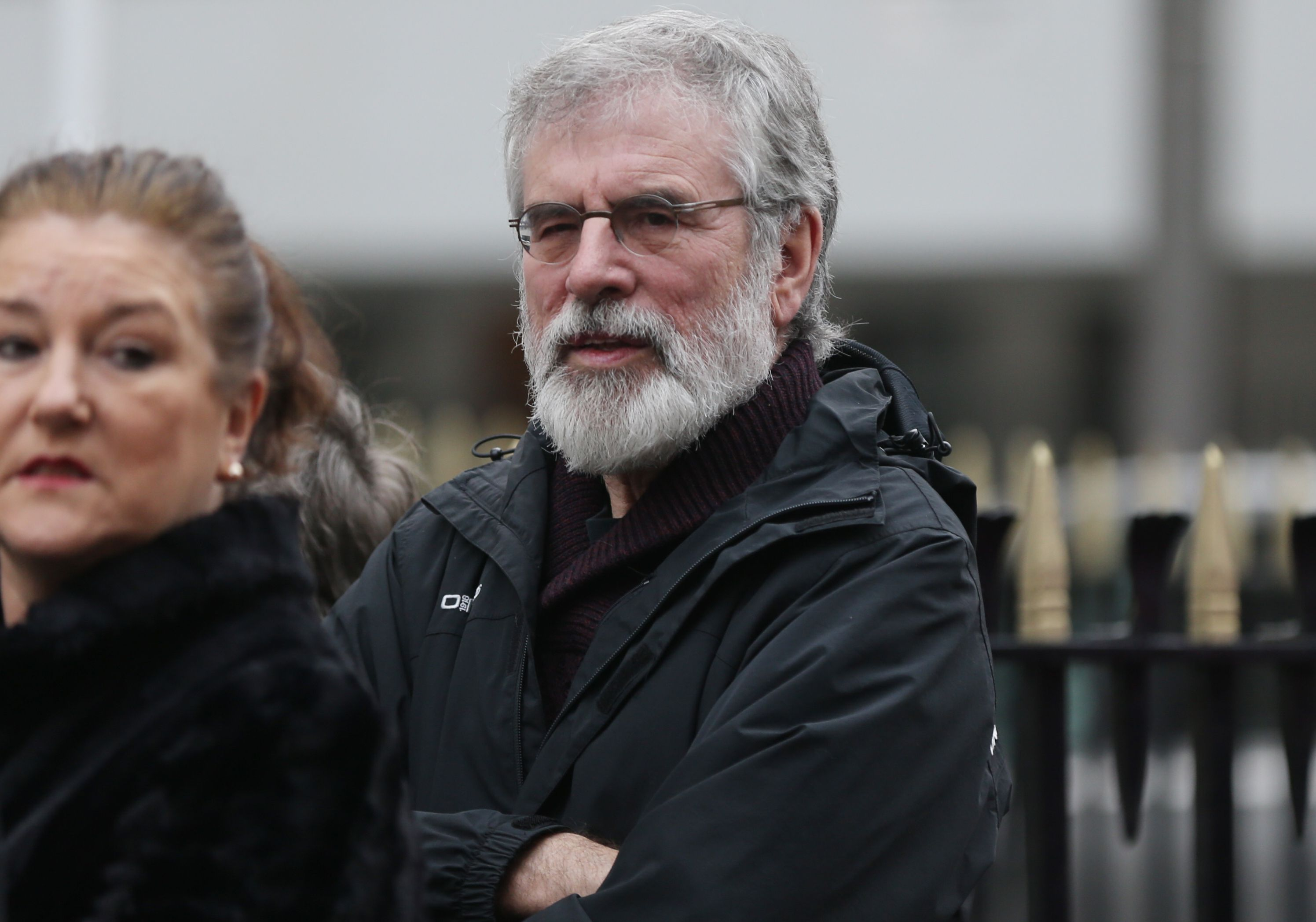 Gerry Adams photographed at the recent funeral of             actor, Jer O'Leary.