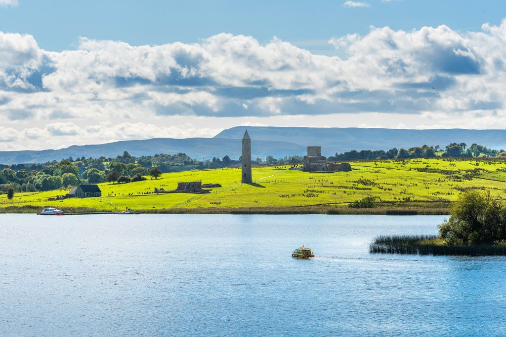 Approaching Devenish Island by boat. Photo: Chris Hill