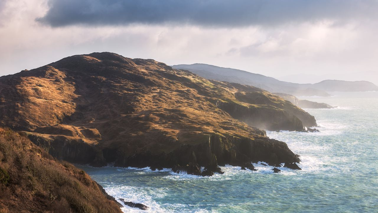 The wild coastline of the Beara Peninsula
