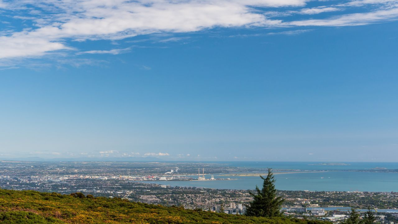 A view of Dublin from the Dublin Mountains Way