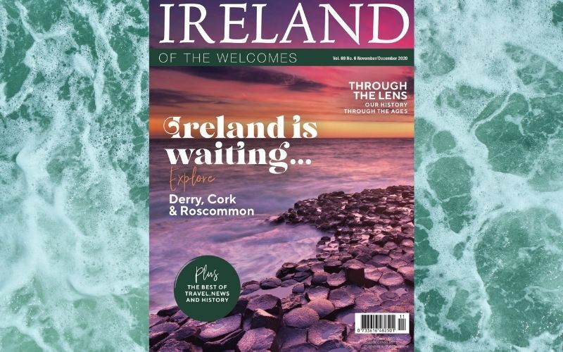 The cover of Ireland of the Welcomes, November / December 2020 issue.