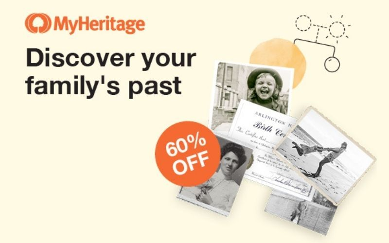 MyHeritage is currently offering 60 percent off of its Complete Plan.