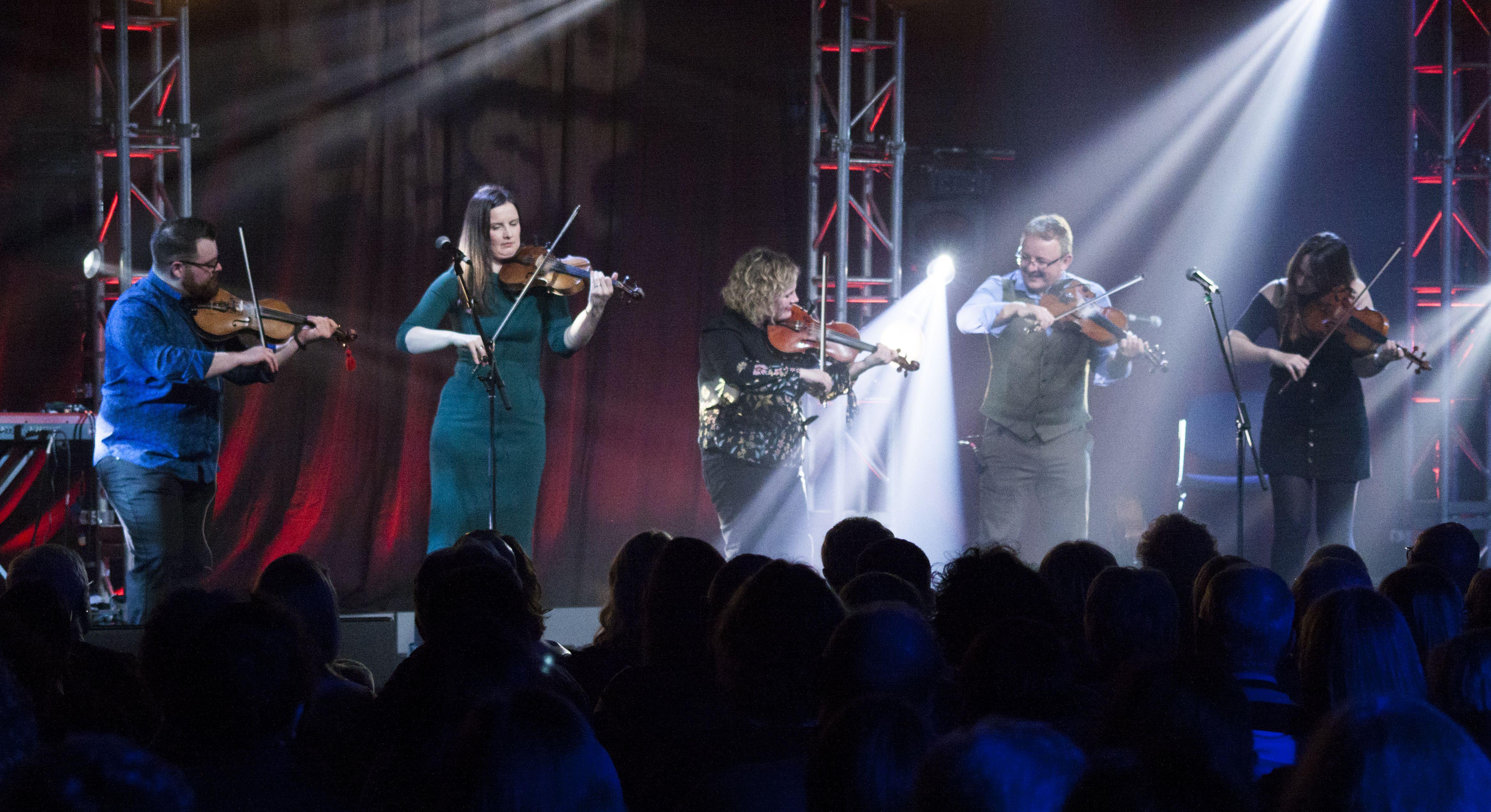 Blazin' Fiddles at Fleadh 2018. Photo: TG4