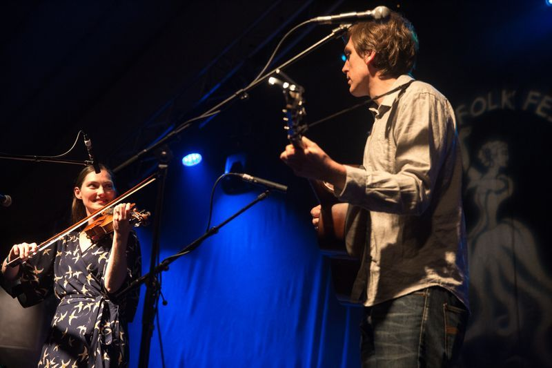 Zoe Conway and John McIntyre at Doolin Folk Fest. Photo: TG4