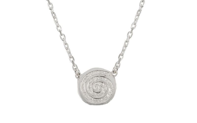 The Energy Single Spiral Silver Necklace (Liwu Jewellery)