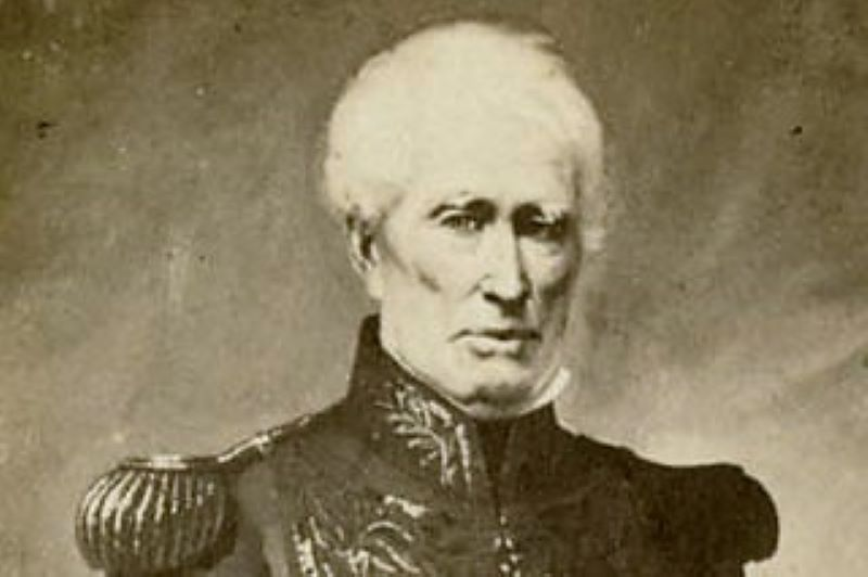 1855 Retrato del almirante William Brown.  (Dominio publico)