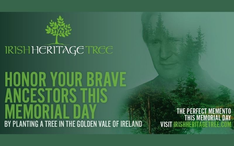 The Irish Heritage Tree is a living symbol to honor those who have left us