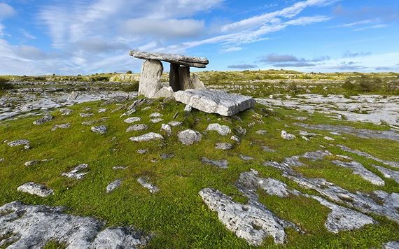 Poulnabrone Dolmen, Ireland's oldest dated megalithic monument.