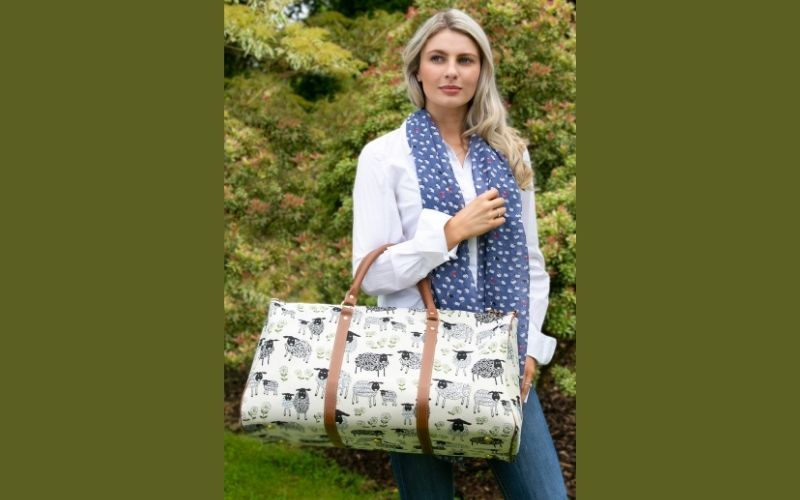 Erin Knitwear also has an extensive range of Tapestry products, ranging from purses to big holdall bags in a variety of colorful and unique patterns