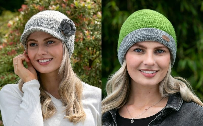 All Erin Knitwear clothing products are hand-knit using 100% wool and are fleece-lined for warmth and comfort.