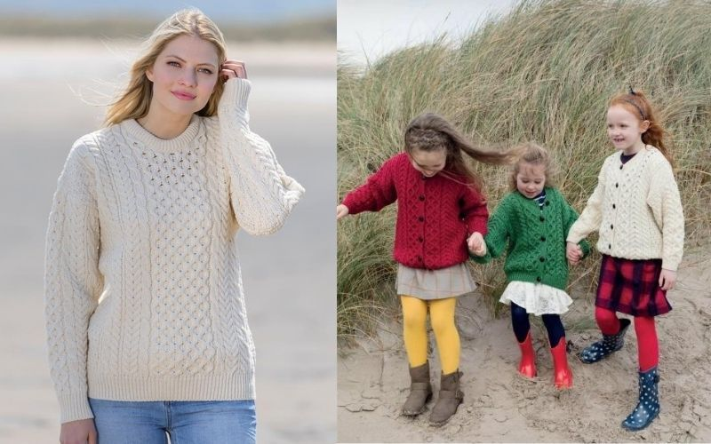 It's not too early to start thinking about outfitting the entire family in luscious Irish knitwear