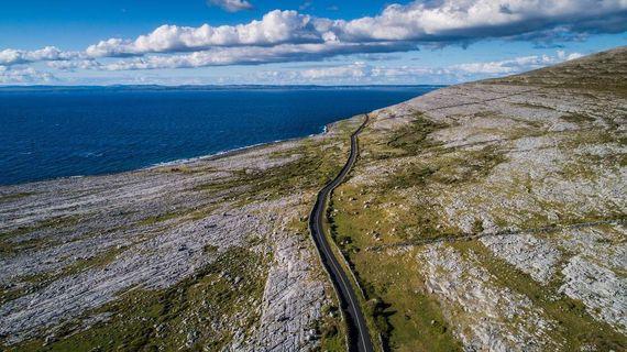 The Coastal Road, on Black Head, County Clare.