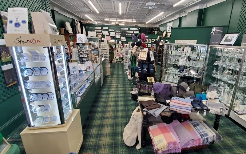 The Irish Centre sells Aran sweaters, Waterford crystal and much more