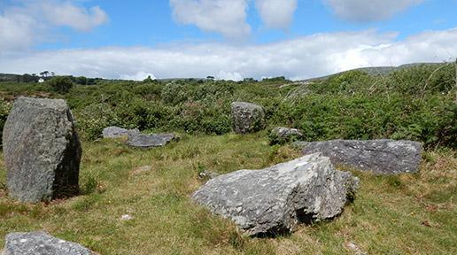 Ahakista Stone Circle along Sheep's Head Way trail.