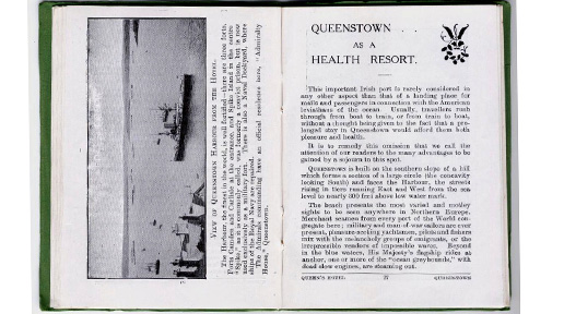 Pages from the pamphlet describing the heatlh resort.