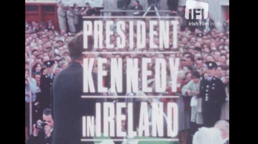 President Kennedy in Ireland.  Credit: Irish Film Institute
