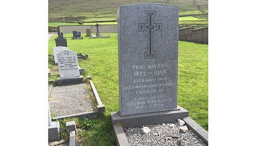 Peig Sayer's grave.