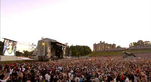 Slane Concert is held most years on the grounds of Slane Castle near Slane, Co Meath.  Credit: Wikipedia/Fair Use