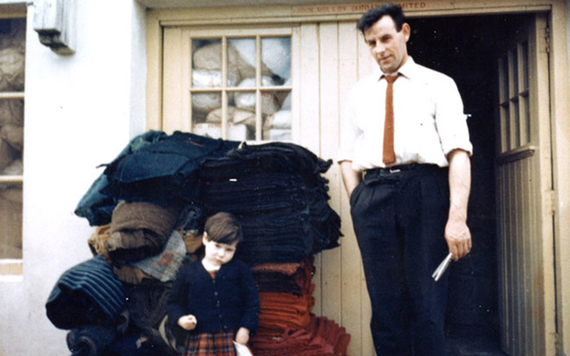 Kieran's grandfather John Molly pictured at his factory in the 1960s.