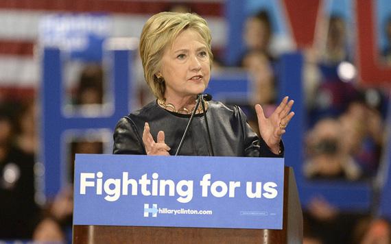Democrat candidate Hillary Clinton.
