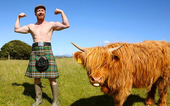 Irish Farmer's Mr January, Michael Cronin, from County Cork.