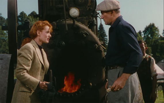 Still from The Quiet Man, starring Maureen O'Hara and John Wayne.