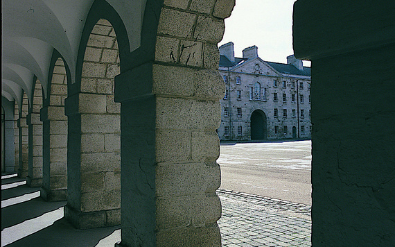 Inside the The National Museum of Ireland aka Collins Barracks.