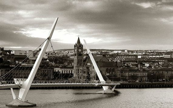The Peace Bridge, in Derry city.