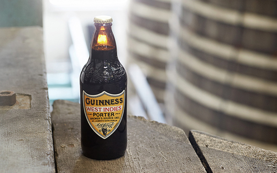 The new bottle for Guinness' West Indies Porter.
