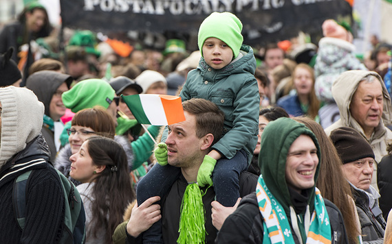 First St. Patrick's day parade was held in 1760s New York.