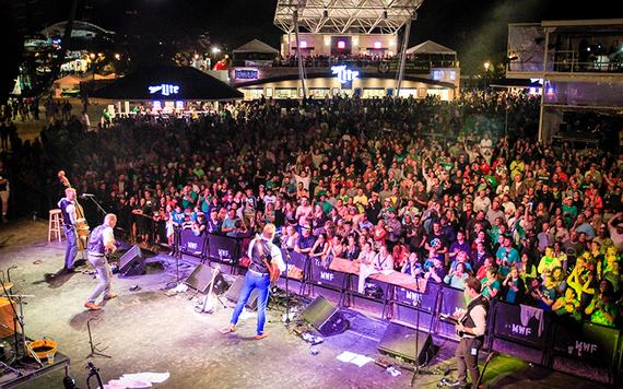 JigJam rocking it out at the Irish Milwaukee Fest.