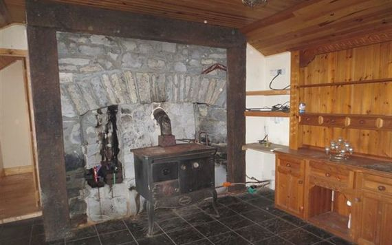 The old-style fire place inside the Kylebeg cottage.