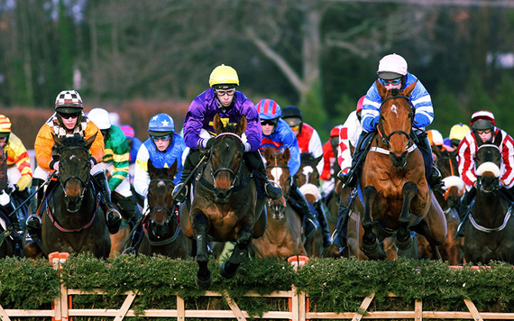 Racing in action at Leopardstown.