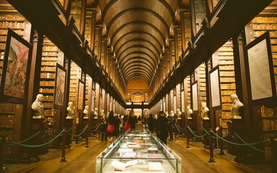 The Long Room, the Library of Trinity College Dublin.
