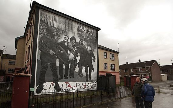 A memorial to Bloody Sunday, at the Bogside, in Derry.
