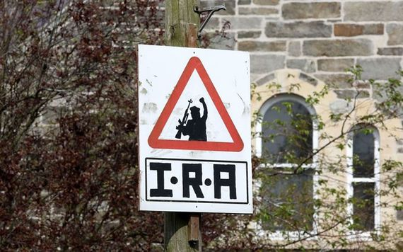 An IRA sign in Derry, in 2019.